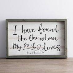 I Have Found the One - Framed Wall Board | DaySpring