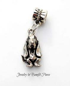 Add this precious charm to any necklace,bracelet or key ring. This one is simply precious and make any hound owner smile.