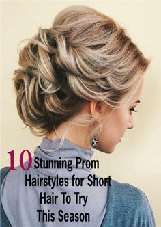 """""""Searching for prom hairstyles for short hair? You have come to the right place as we have collected 25 stunning prom hairstyles for short hair. Scroll down to get them all and get inspired for the big night. #Allhairstylesblog #promhairstylesforshorthairupdo #promhairstylesforshorthairhalfup #promhairstylesforshorthairvintage #promhairstylesforshorthairbraid"""
