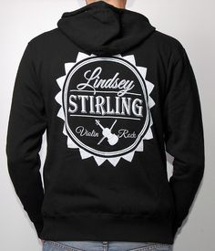 Lindsey Stirling Sun Zip Hooded Sweatshirt (Black)_ I. MUST. HAVE. THIS. SHIRT.
