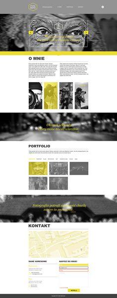 Strona internetowa portfolio. / Website portfolio. by Rafał Sieńkowski, via Behance