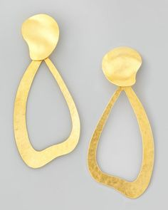 Vibrations Wavy Drop Earrings by Herve Van Der Straeten at Bergdorf Goodman.