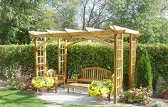 Pergola selber bauen für eine Sitzecke im Garten