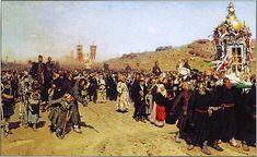 Илья Ефимович Репин (1844–1930). Крестный ход в Курской губернии 1880–1883