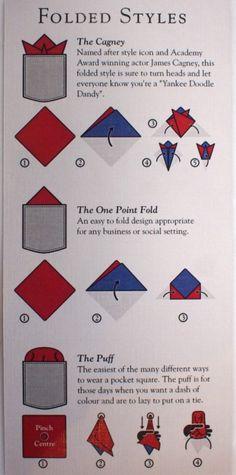 3 ways to fold a pocket square