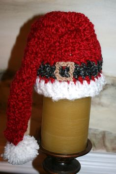 Santa Hat 14 inch deep red  baby Santa hat Santa's belt in by SweetTsShoppe, $18.95