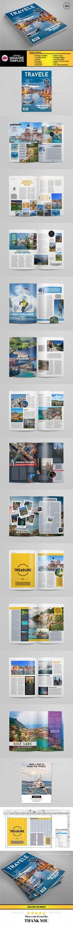 A4 Traveling Magazine Template #design Download: http://graphicriver.net/item/a4-traveling-magazine-template/13000919?ref=ksioks