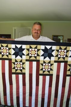 Tim with his Father's Day quilt