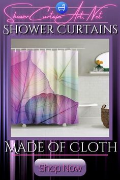 BUY ONE GET ONE HALF OFF!! Choose from hundreds of fun styles! Shower Curtain Art, Cool Shower Curtains, Floral Shower Curtains, Bath Decor, Leaf Prints, Custom Fabric, Soft Fabrics, Cool Style, Vibrant Colors