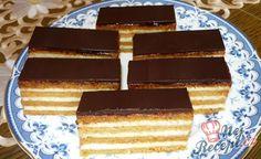 Jednoduché medové řezy | NejRecept.cz Sweet Desserts, Tiramisu, Waffles, Cake Recipes, Sweet Tooth, Good Food, Food And Drink, Easy Meals, Breakfast