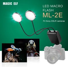 ML-2E On-Camera LED Macro Flash with Flexible Arm for Sony DSLR Cameras