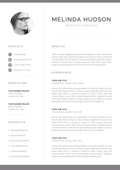 References Sheet Template Stunning Resume Template 1 Page  Graphicsauthor  Resume Cv Templates .