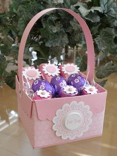 Easter Basket with Scallop Envelope Die