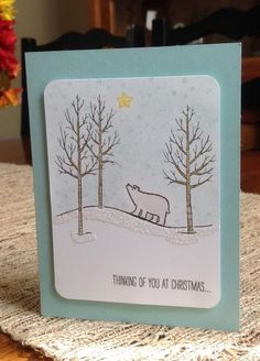 A Polar Bear's Thoughts by curlycoconut - Cards and Paper Crafts at Splitcoaststampers