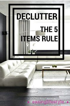 Learn how to declutter the easy way. The 5 items rule gets your home ready for spring like no other way. You'll discover how tidy your home can be. Declutter, Flat Screen, Spring, Easy, Blog, Home, Flat Screen Display, House, Flatscreen