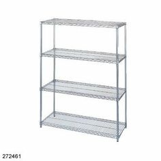 "Chrome Plated Wire Shelving Part (2)24"" x36"" Shelves for Sleeves by Wesco. $96.61. Wire Shelving Part. SET: 24 X 36"" SHELF WIRE SHELVING. Standard Manufacturer Warranty"