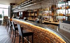 recycled brick bar