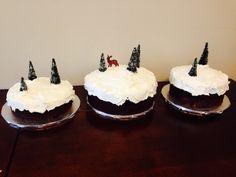 Winter Wonderland Cake. Chocolate cake with vanilla buttercream and ...