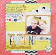 Welcome, Becki here, to share with you another layout I created using buttons. If you remember, I shared a layout last month that had TONS of buttons (you can find that HERE). I am determined to make a dent in my surplus of crafting supplies. I started this layout by choosing this photo. As you …
