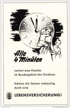 Original-Werbung/ Anzeige 1960 er Jahre - LEBENSVERSICHERUNG - ca. 65 x 110 mm