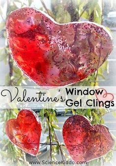 Window Gel Clings | Valentine's Day | The Science Kiddo