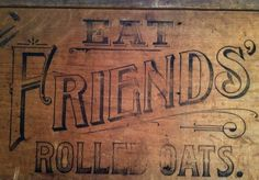This 19thc (Quaker?) oats advertising crate was reused as the base ...