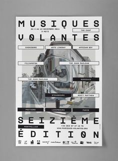 2011 • Musiques Volantes #16 Design by A is a name
