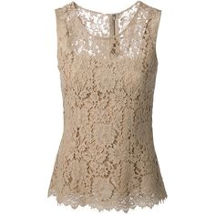 DOLCE & GABBANA floral lace blouse found on Polyvore