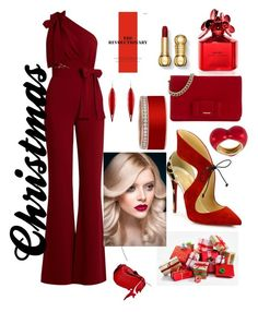 """Christmas"" by ahumadarosy on Polyvore featuring Elie Saab, Christian Louboutin, Miu Miu, Marc Jacobs, Mark Davis, Alison Lou and Call Of The Wild"