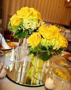 WeddingChannel Galleries: Yellow Rose Centerpiece