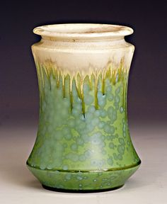 Vase with flowing glazes, Samantha Henneke, Seagrove, NC