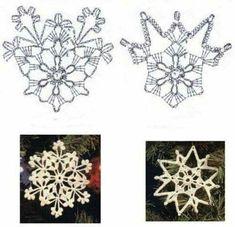 All About Crochet Crochet Snowflake Pattern, Crochet Stars, Crochet Circles, Christmas Crochet Patterns, Holiday Crochet, Crochet Snowflakes, Christmas Snowflakes, Thread Crochet, Crochet Stitches