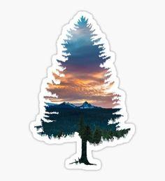Spruce Tree Sticker