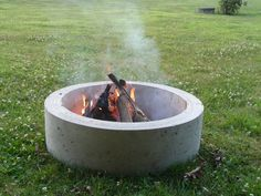 concrete fire ring