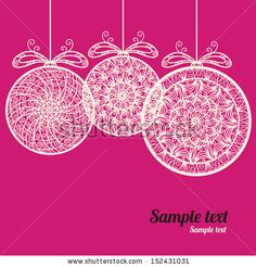 Vintage holiday New Year and Christmas background with Christmas balls - vector