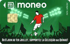 Carte collector Portugal du Championnat d'Europe des Nations 2012. en vente via la boutique Moneo : http://owl.li/aTDHv