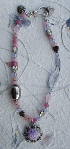 Necklace from my bead soup - http://moonandsevenstars.blogspot.co.uk/2013/04/bead-soup.html