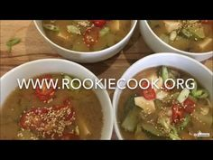 Doenjang and Tofu Soup - Rookie Cook Irish Recipes, Spicy Recipes, Easy Healthy Recipes, Easy Meals, Cooking Recipes, Yummy Recipes, Vegan Recipes, Crock Pot Slow Cooker, Crockpot