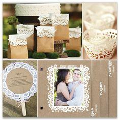 'Kraft Paper + White Lace Wedding ideas', on Minted.com