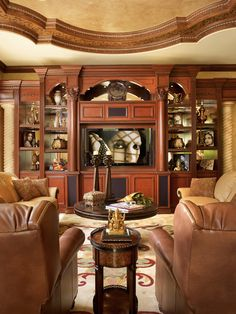 Mediterranean Family Room Design, Pictures, Remodel, Decor and Ideas - page 87