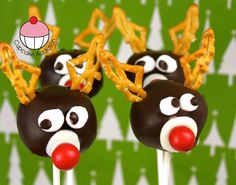 Rudolf Christmas Cakepops - Learn how to make these delicious treats, and heaps more at the Mycupcakeaddiction YouTube channel!