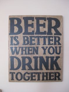 Beer sign . $85.00, via Etsy.