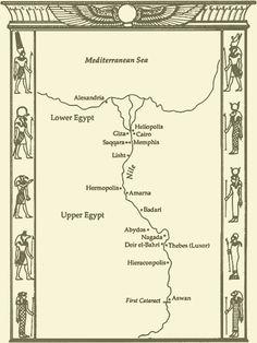Printable Ancient Egypt Map  Royal Ontario Museum