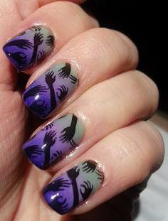 Halloween Zombie Hands Manicure