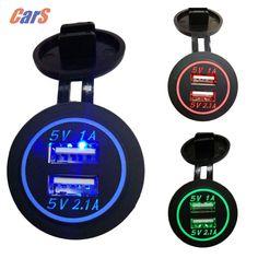 $4.64 (Buy here: https://alitems.com/g/1e8d114494ebda23ff8b16525dc3e8/?i=5&ulp=https%3A%2F%2Fwww.aliexpress.com%2Fitem%2FBEST-12V-24V-Universal-Dual-USB-Car-Cigarette-Lighter-Charging-Socket-3-Colors%2F32616654710.html ) 3 colors  Waterproof Car Charger 12V-24V Universal Dual USB Car Charger Cigarette Lighter LED digital display Charging Socket for just $4.64