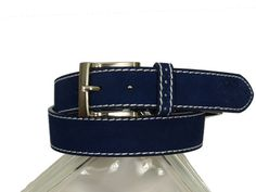 Boy's Belt 20306 Blue #boyssuits #heritagehouse #goodvibes #belt #belts #dressbelt #florsheim #suede #blue #navy