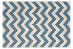 Steffen Outdoor Rug, Blue/Beige on OneKingsLane.com