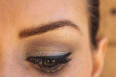 neutral eyeshadows, winged eyeliner, minimal brow products #BBU12 @Sara-May Monaghan @TheMakeupUtopia @MakeupUtopia