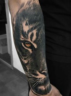 Forarm Tattoos, Arm Sleeve Tattoos, Eagle Tattoos, Head Tattoos, Forearm Tattoo Men, Tatoos, Tiger Eyes Tattoo, Big Cat Tattoo, Lion Tattoo