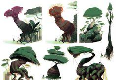 ArtStation - Concept art Tress - vegetations, Alexis Rives